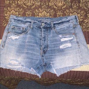 American Eagle Hi-waisted Jean shorts